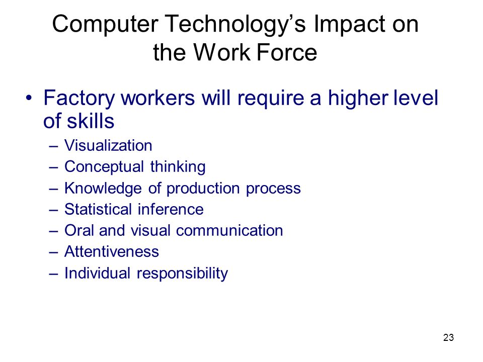 Computer Technology's Impact on the Work Force