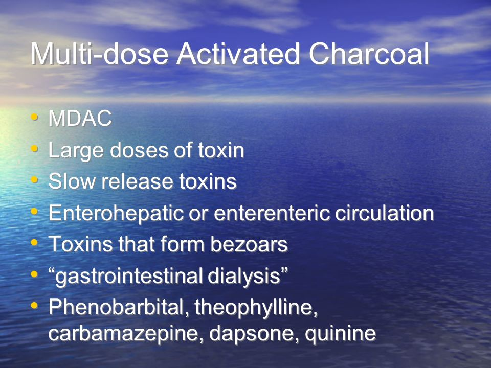 Multi-dose Activated Charcoal