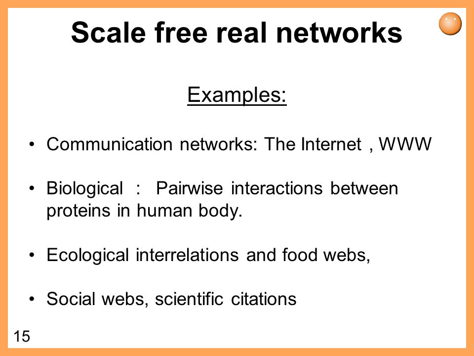 Scale free real networks