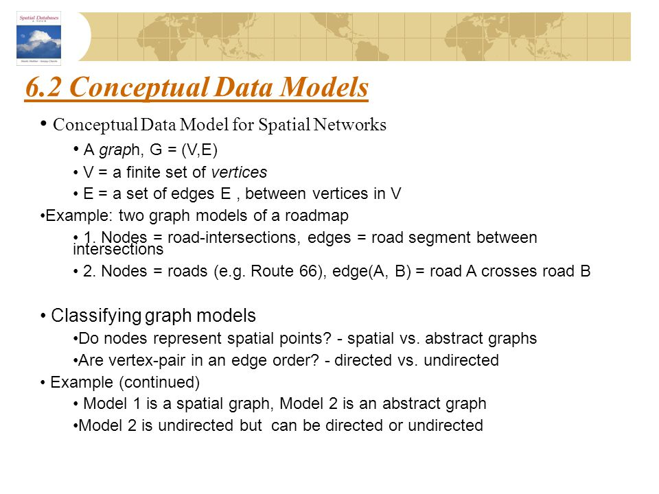 6.2 Conceptual Data Models