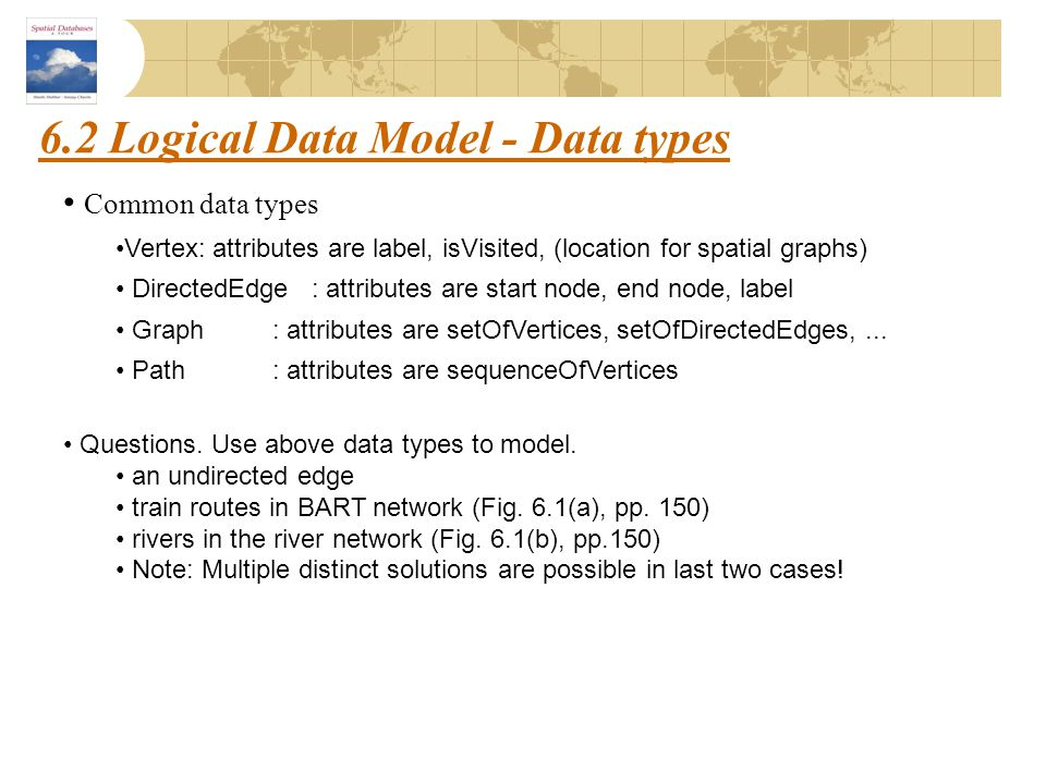 6.2 Logical Data Model - Data types