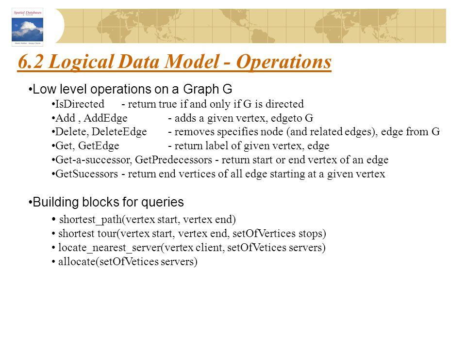 6.2 Logical Data Model - Operations