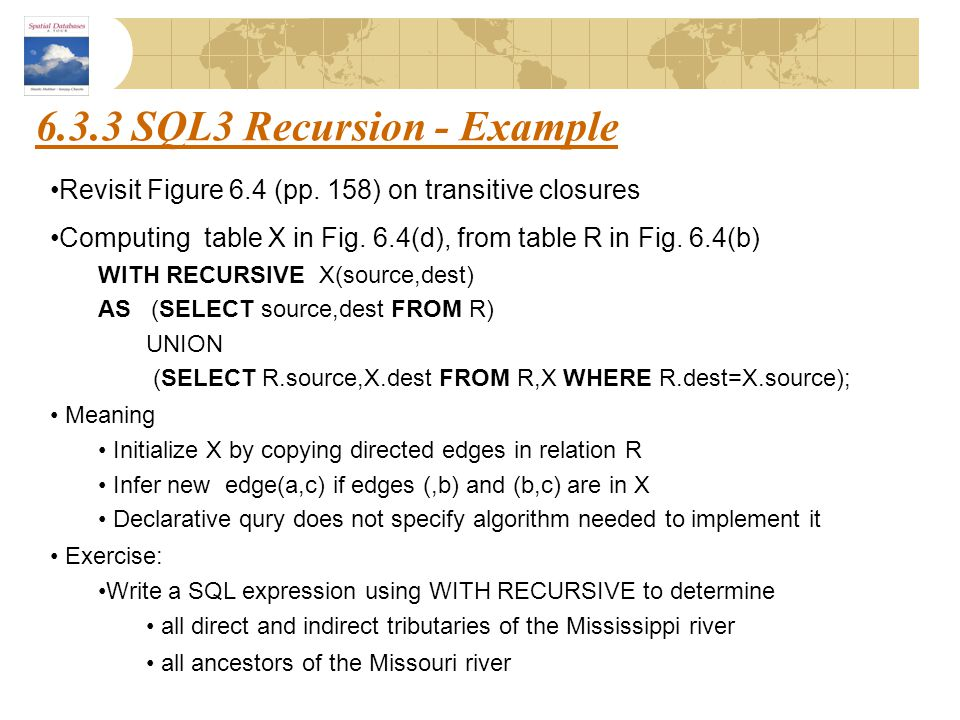 6.3.3 SQL3 Recursion - Example