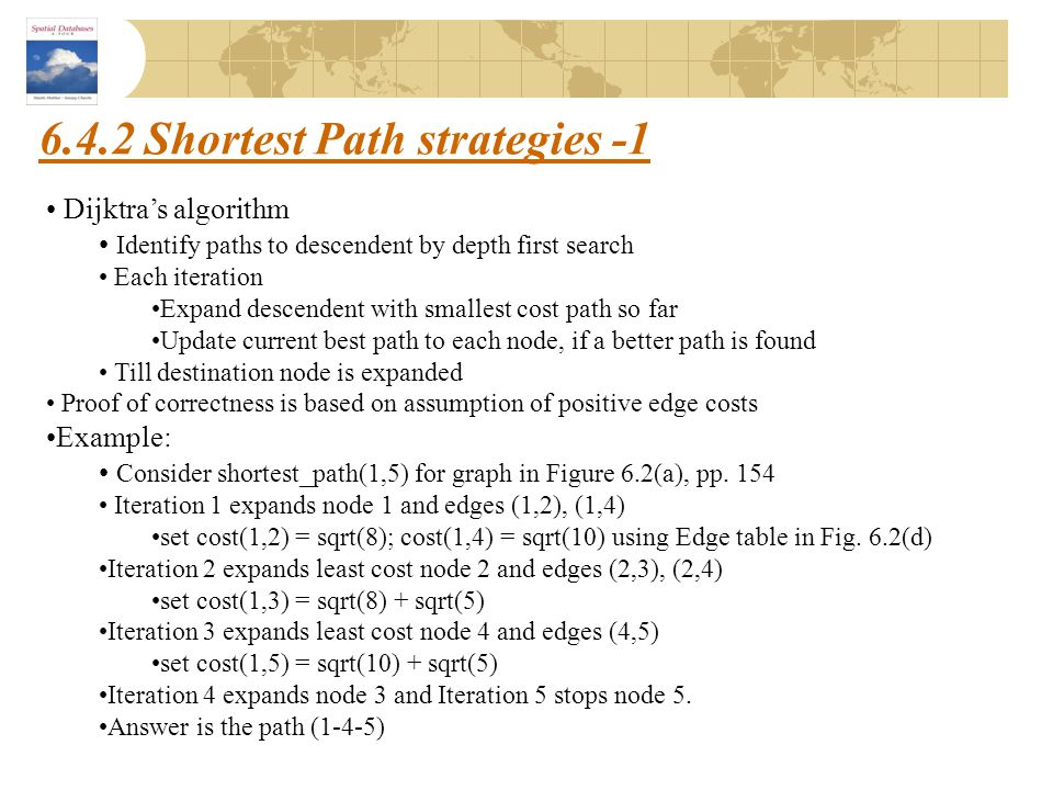 6.4.2 Shortest Path strategies -1