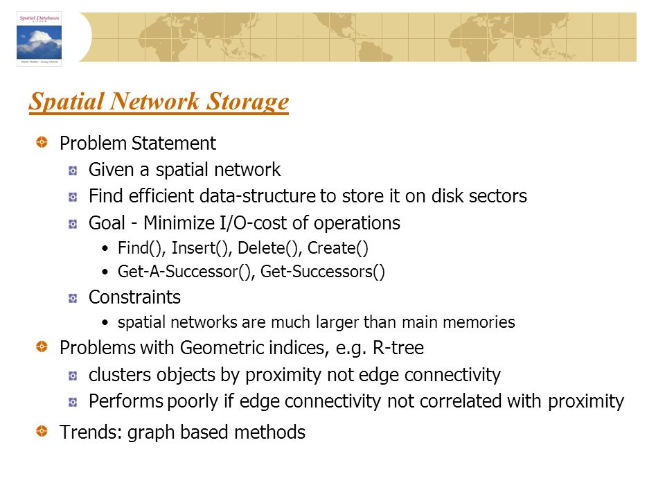 Spatial Network Storage