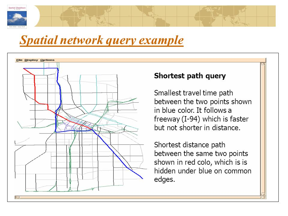 Spatial network query example