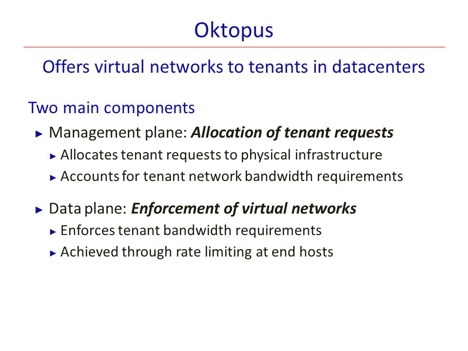 Offers virtual networks to tenants in datacenters