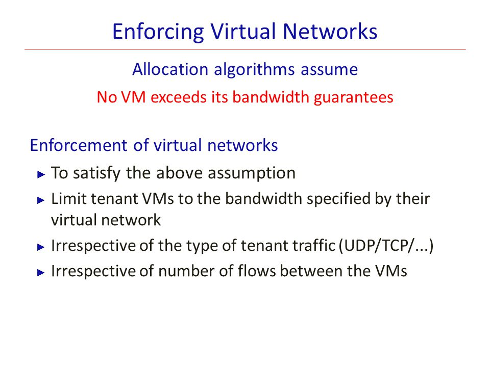 Enforcing Virtual Networks