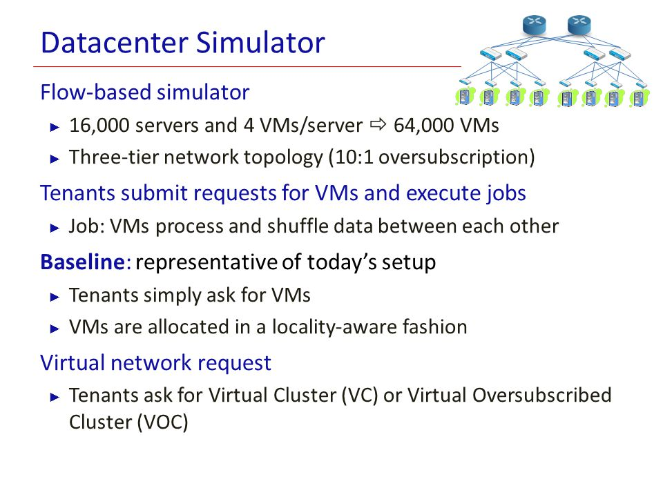 Datacenter Simulator Flow-based simulator