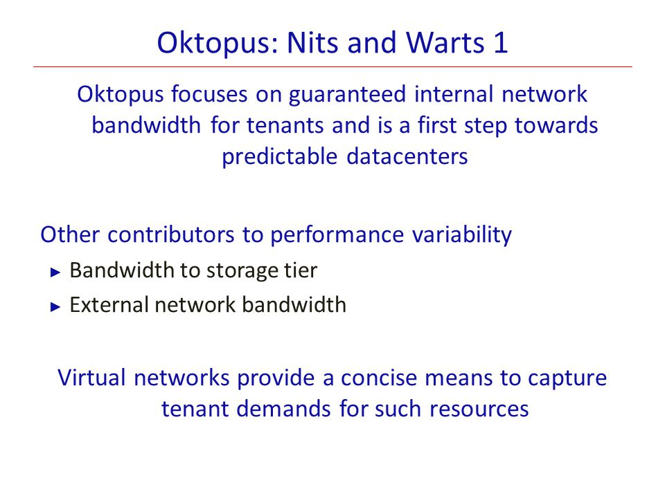 Oktopus: Nits and Warts 1