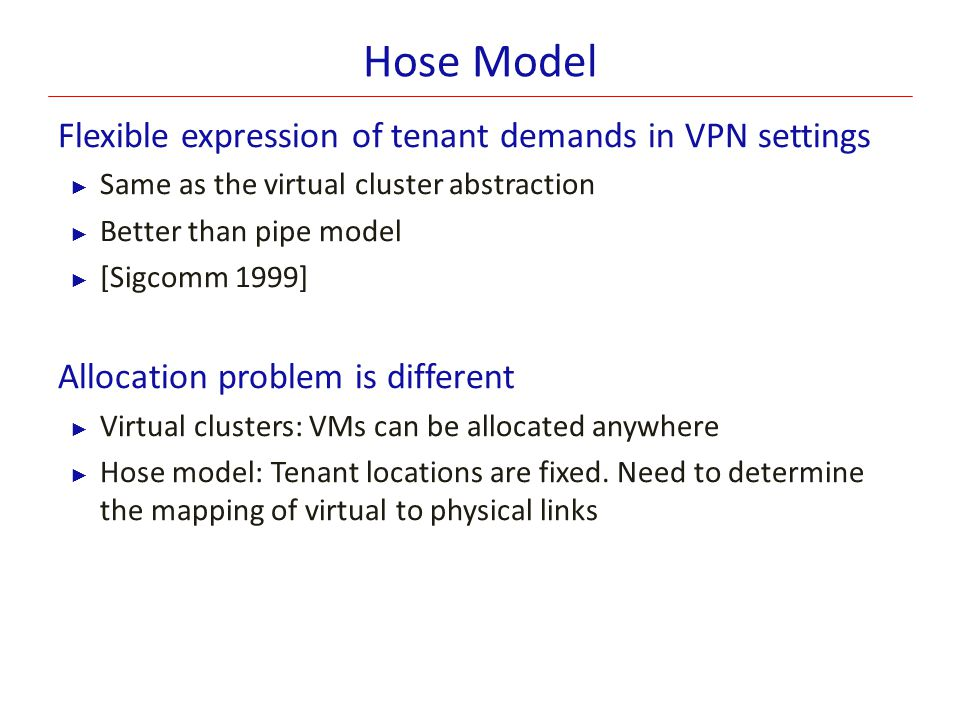 Hose Model Flexible expression of tenant demands in VPN settings
