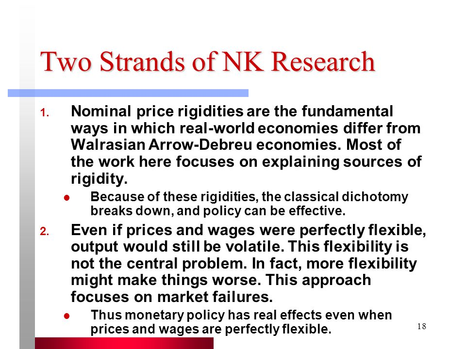 Two Strands of NK Research