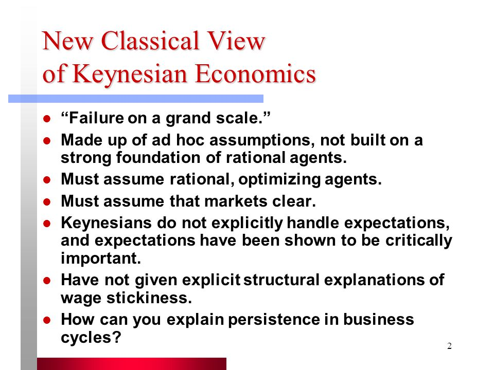 New Classical View of Keynesian Economics