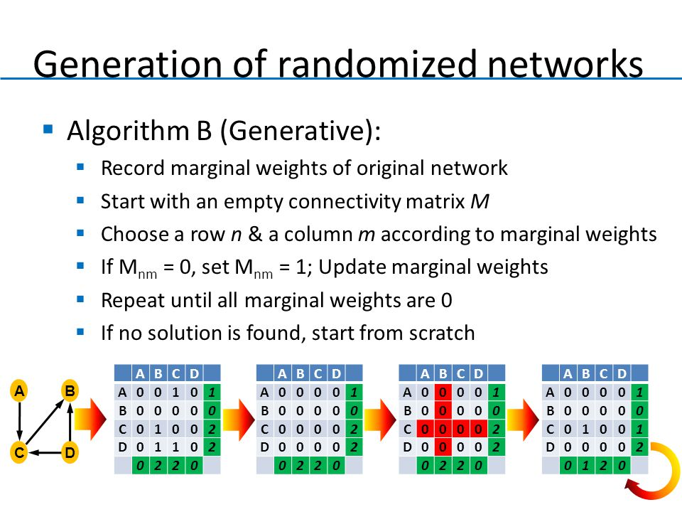 Generation of randomized networks