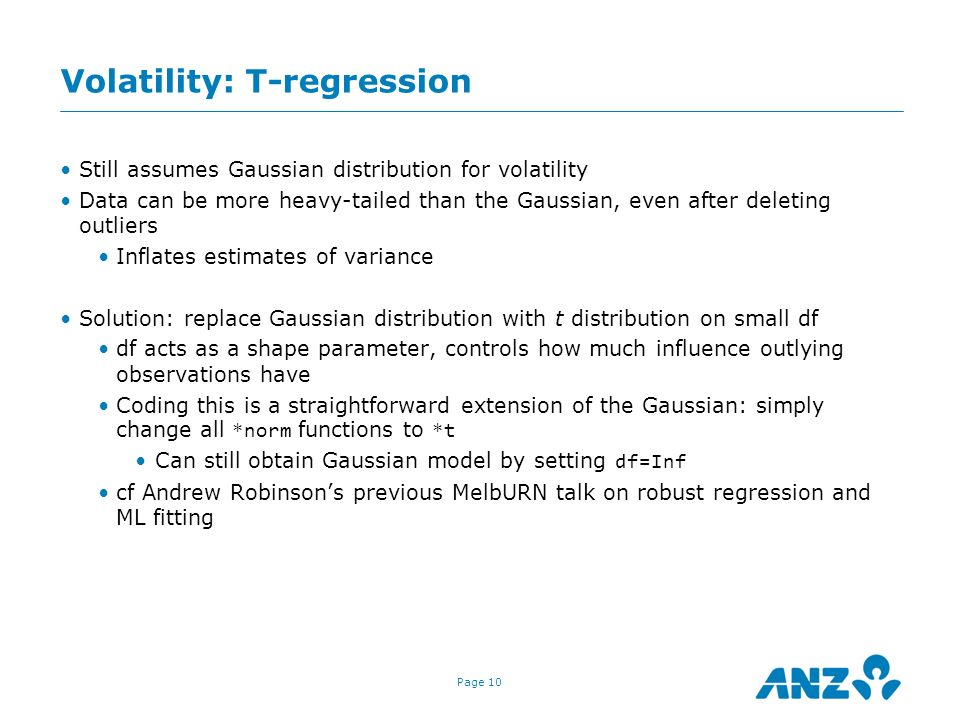 Volatility: T-regression