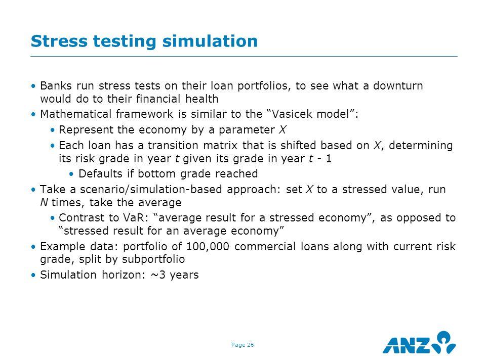Stress testing simulation