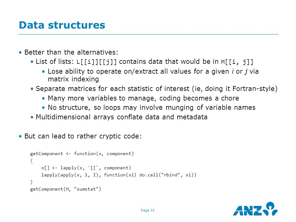 Data structures Better than the alternatives: