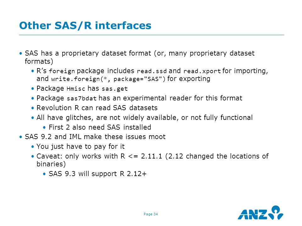 Other SAS/R interfaces