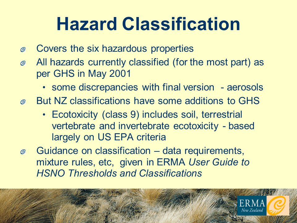 Hazard Classification