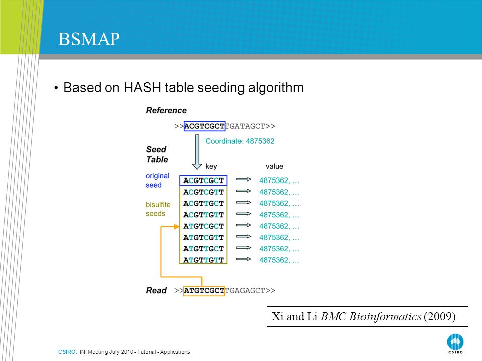 BSMAP Based on HASH table seeding algorithm
