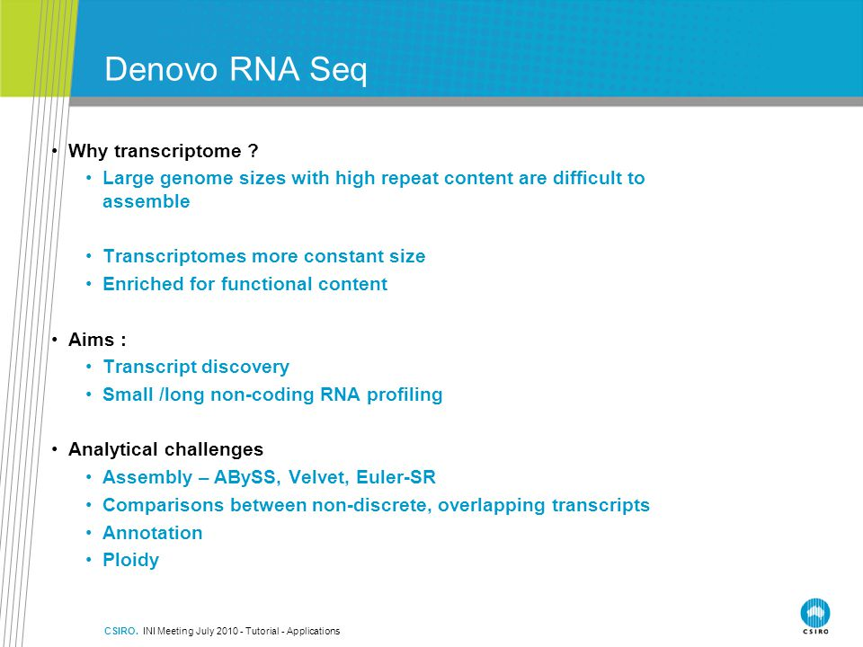 Denovo RNA Seq Why transcriptome