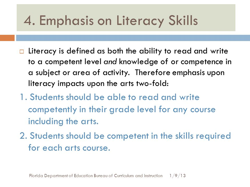4. Emphasis on Literacy Skills