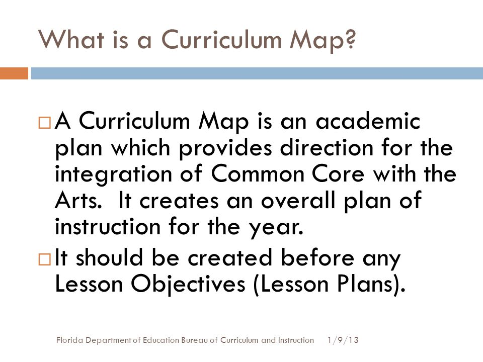 What is a Curriculum Map