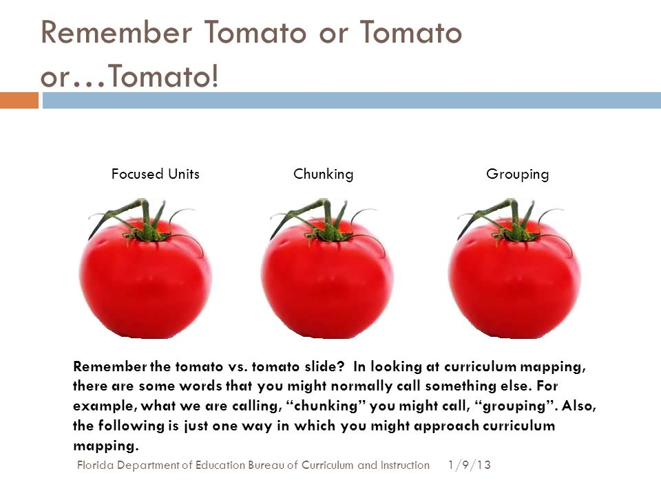 Remember Tomato or Tomato or…Tomato!