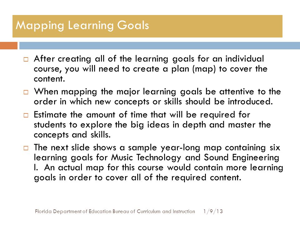 How To Map Learning Goals