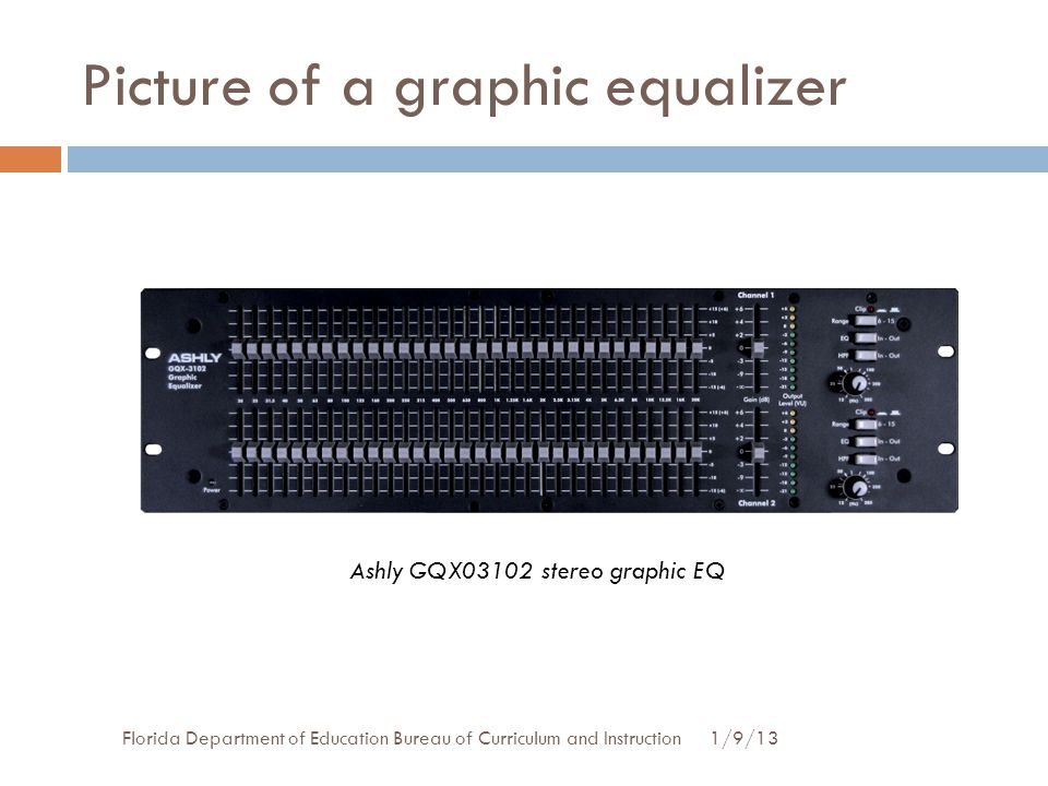 Picture of a graphic equalizer