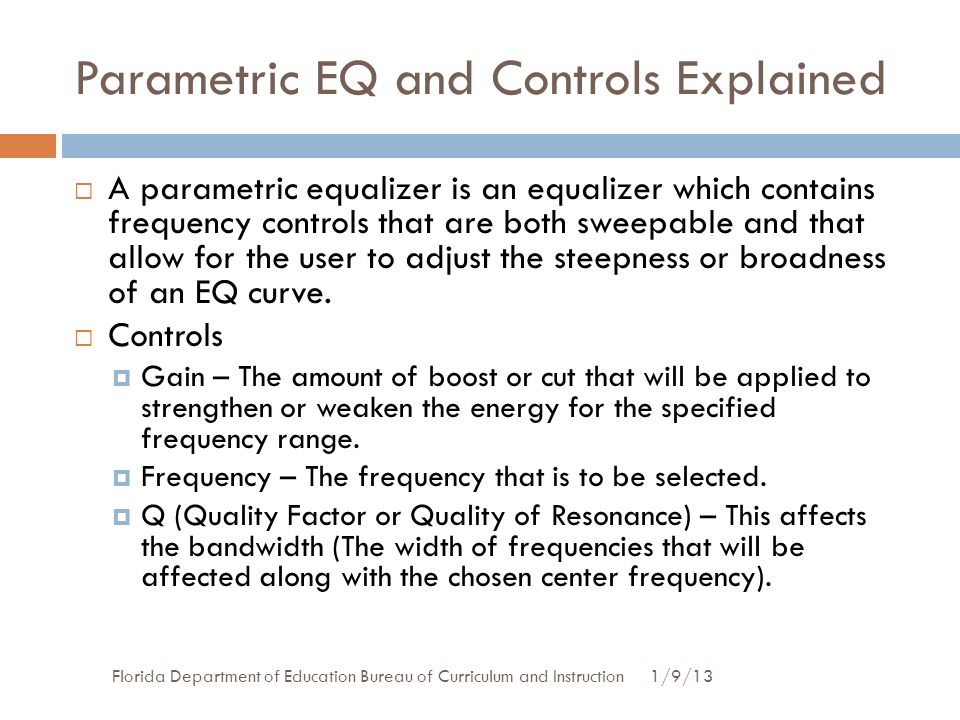 Parametric EQ and Controls Explained