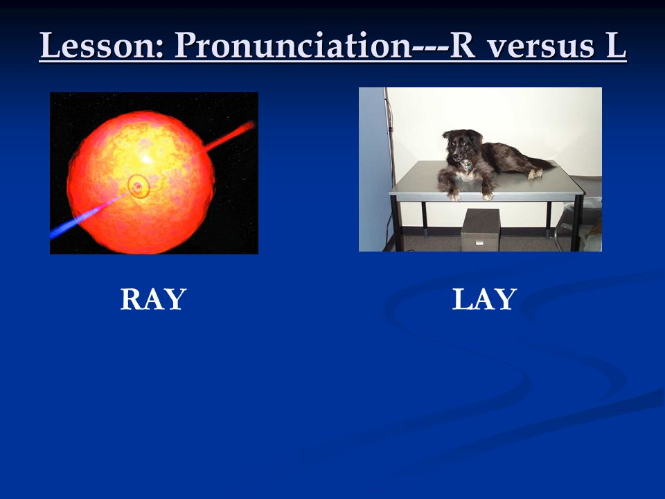 Lesson: Pronunciation---R versus L