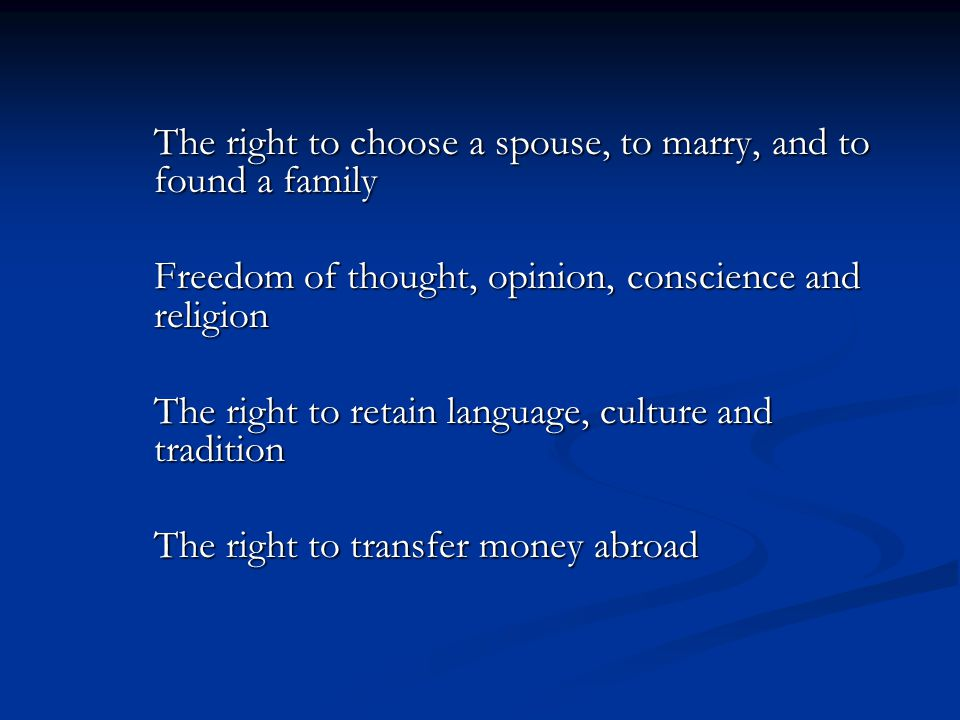 Freedom of thought, opinion, conscience and religion