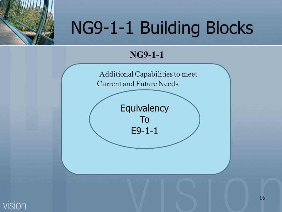 NG9-1-1 Building Blocks NG9-1-1