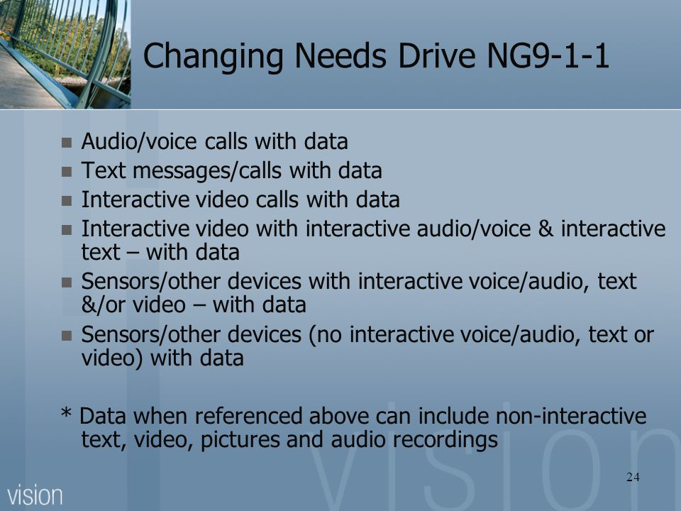 Changing Needs Drive NG9-1-1