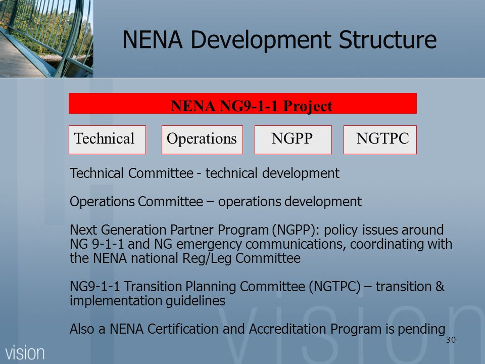 NENA Development Structure