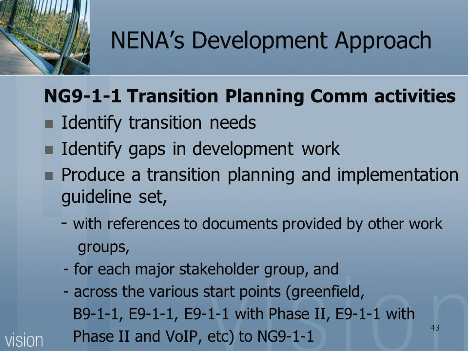 NENA's Development Approach