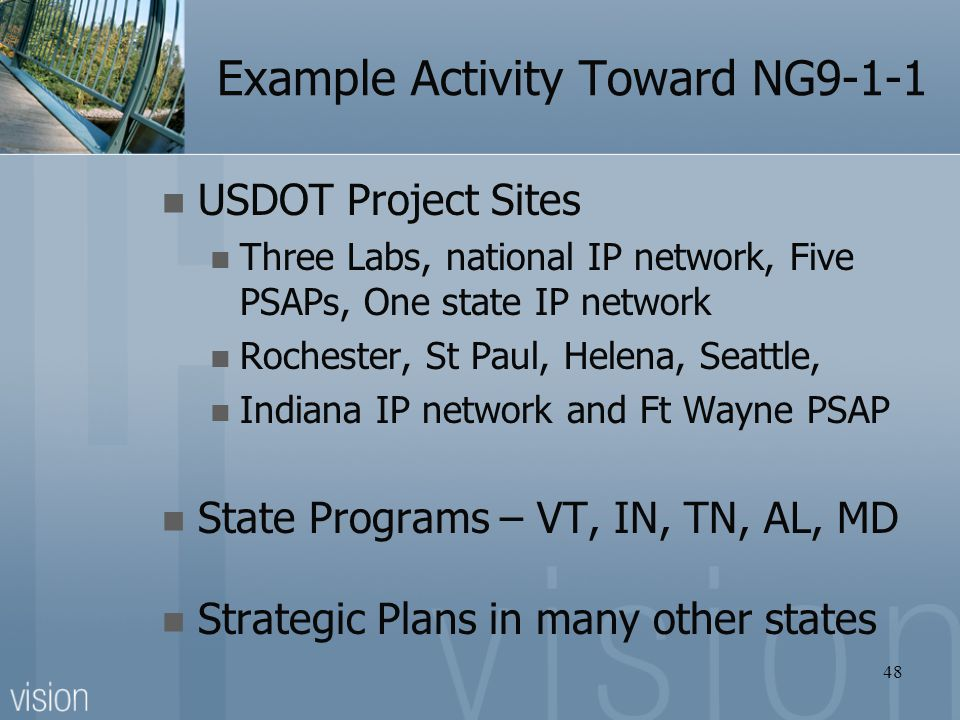 Example Activity Toward NG9-1-1