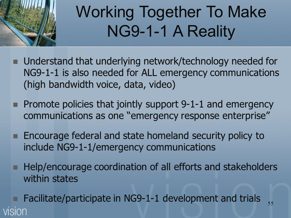 Working Together To Make NG9-1-1 A Reality