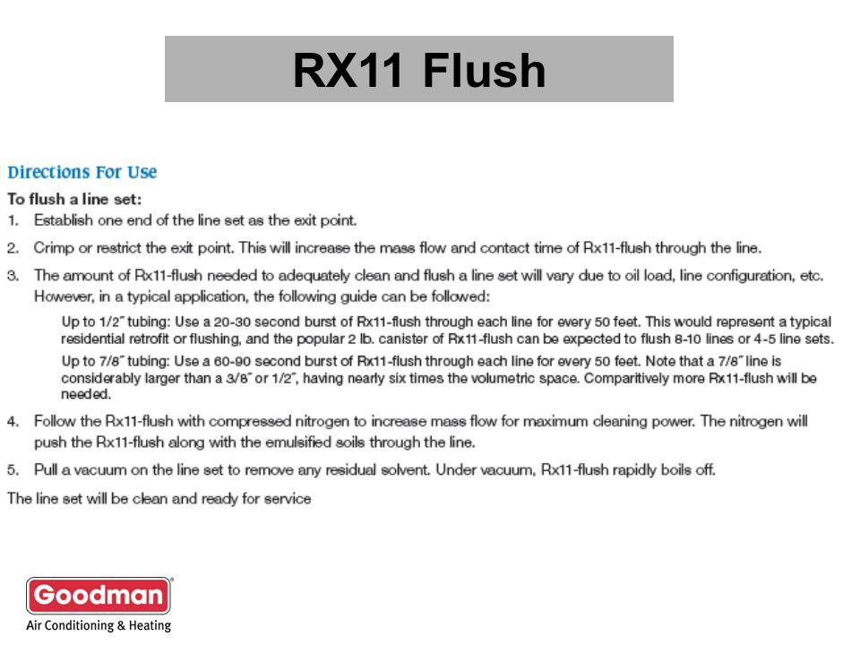 RX11 Flush