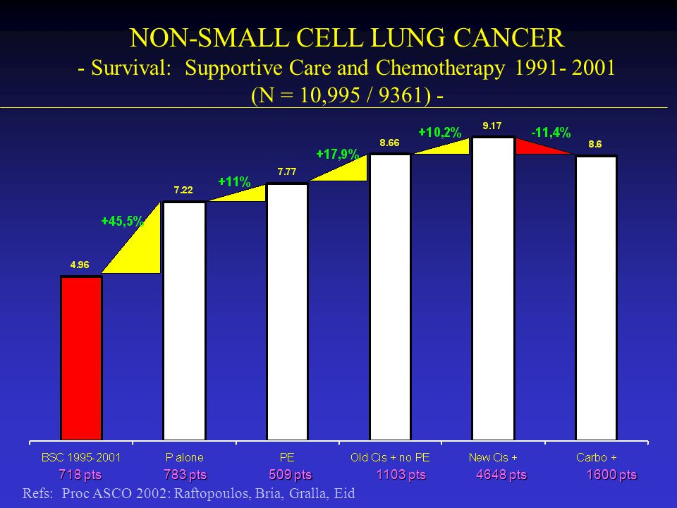 NON-SMALL CELL LUNG CANCER - Survival: Supportive Care and Chemotherapy 1991- 2001