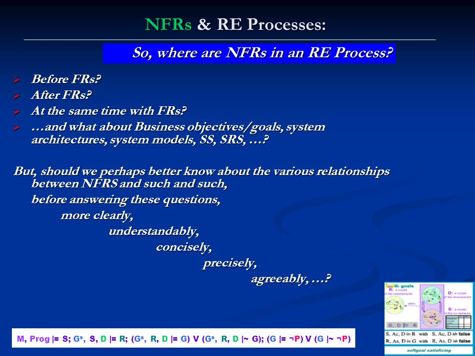 NFRs & RE Processes: So, where are NFRs in an RE Process Before FRs