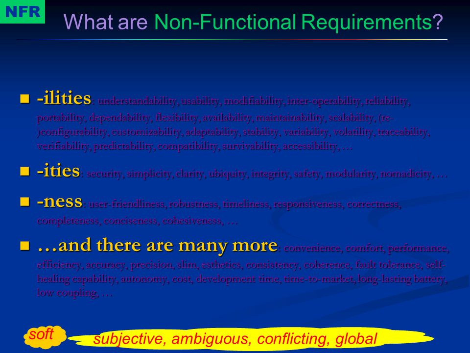What are Non-Functional Requirements
