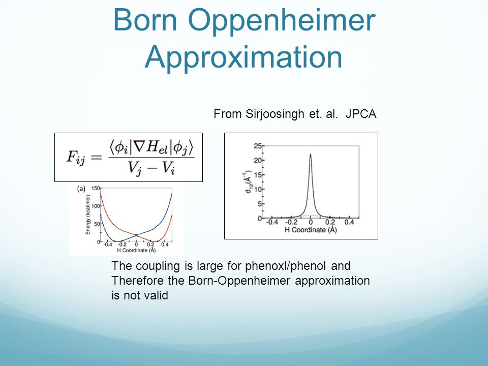 Born Oppenheimer Approximation