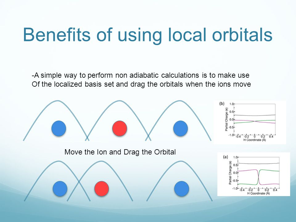 Benefits of using local orbitals