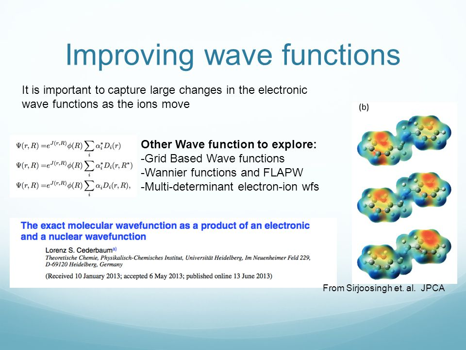 Improving wave functions