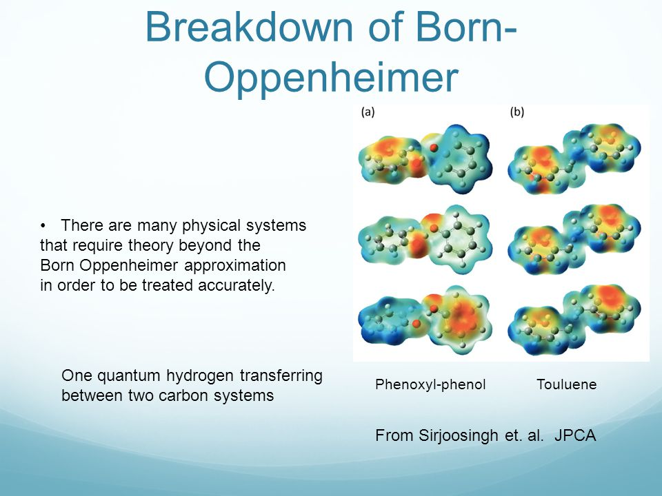 Breakdown of Born-Oppenheimer