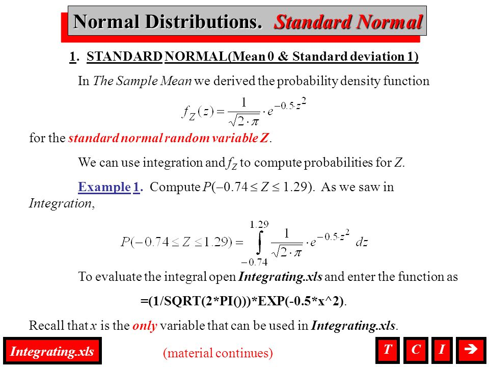 Normal Distributions, Standard Normal