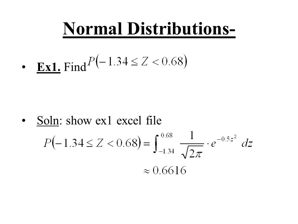 Normal Distributions-