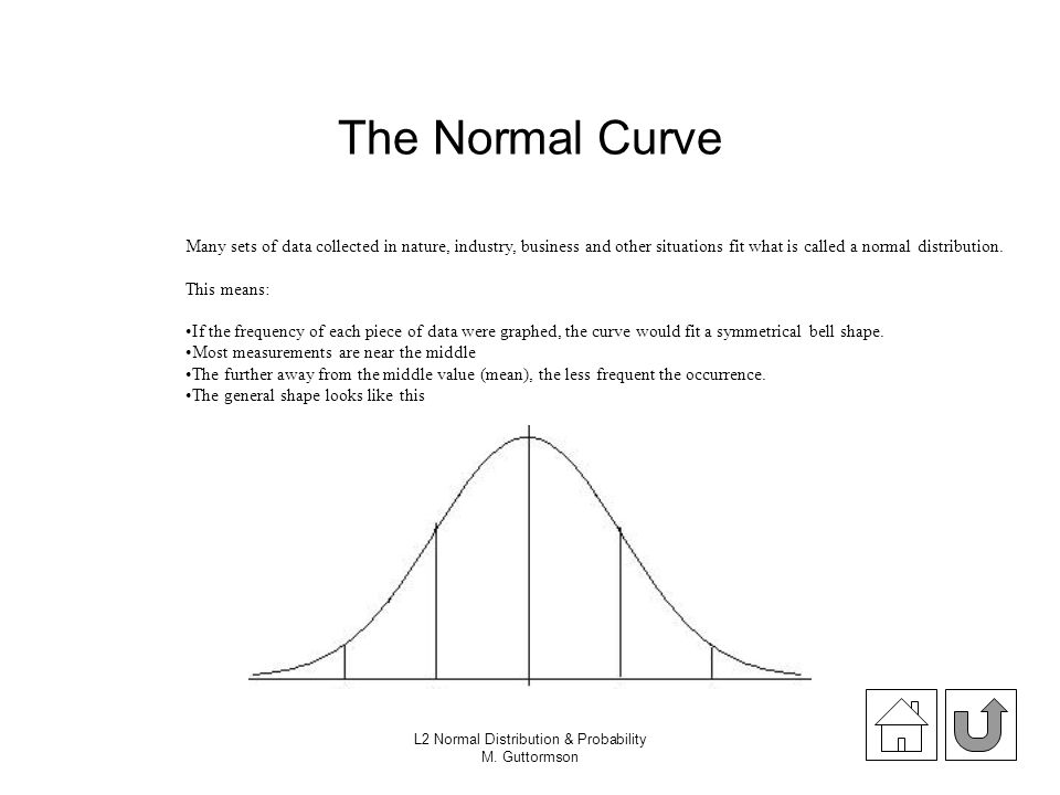data normal distribution and probability Normal probability distribution, also called gaussian distribution refers to a family  of distributions that are bell shaped.